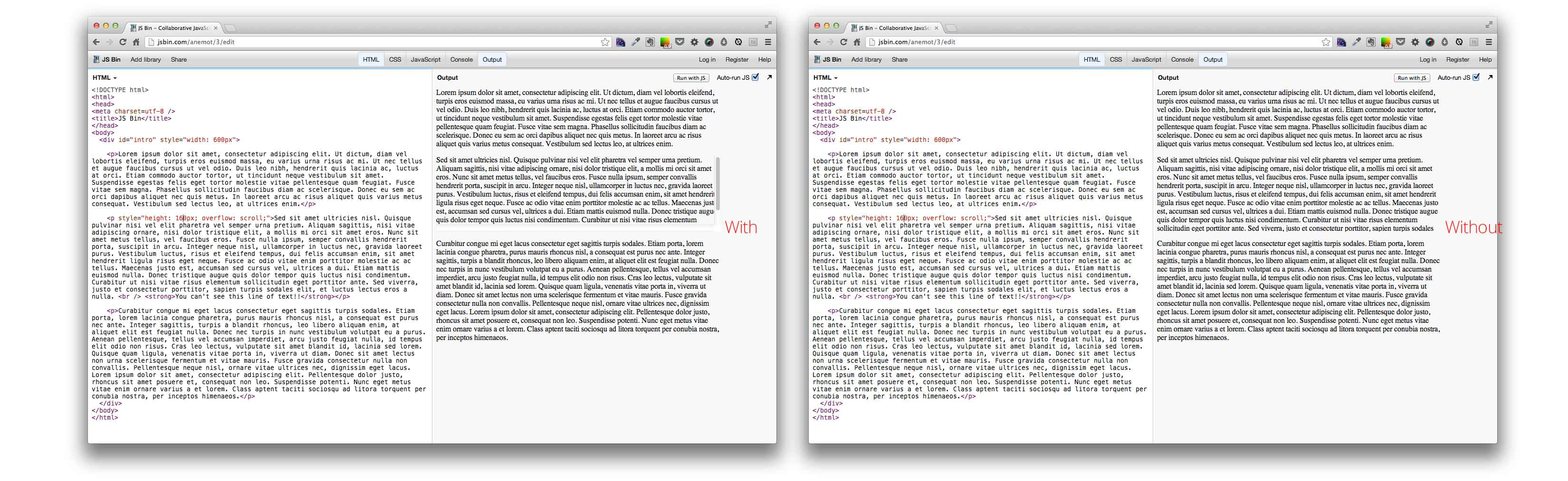 webkit-scrollbar on OS X - Mark Goddard - Interaction and UX